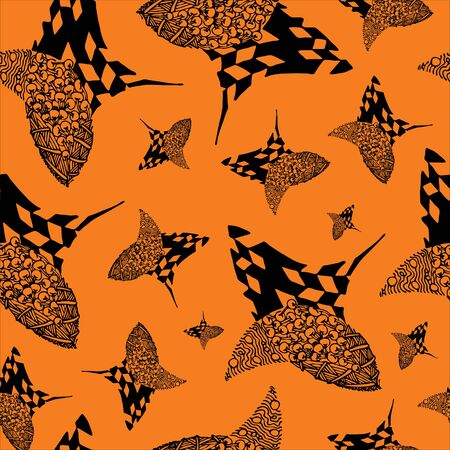 Abstract zenart seamless pattern illustration on the color background. Banque d'images - 138348924