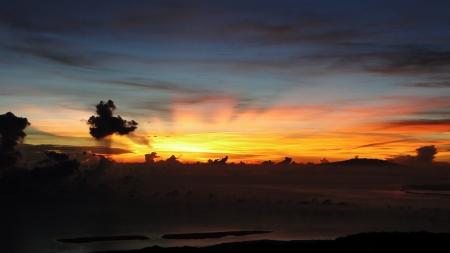 vulcano: vulcano sunset indonesia lombok gunug rinjani mountain
