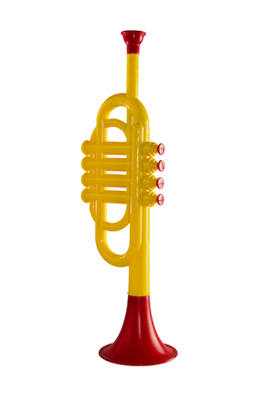 soloist: Trumpet music for children to play on an isolated background