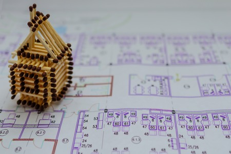 The building plans. House Architecture background