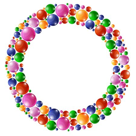 festivity: Festive colorful round confetti background. illustration for decoration