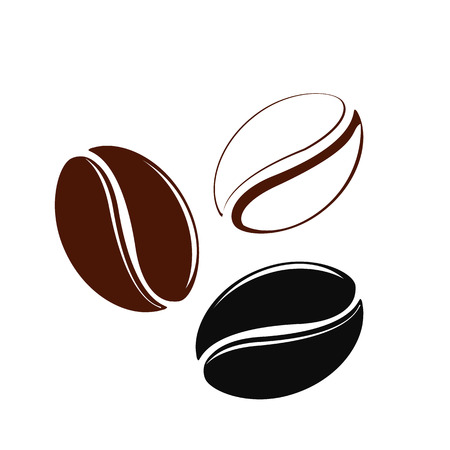 Icon of coffee beans Illustration