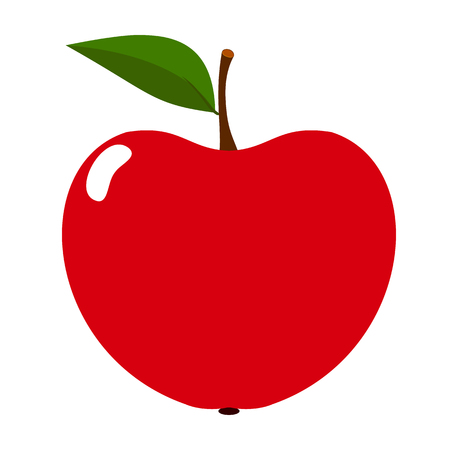 Red Apple icon fruit on a white background. Vector