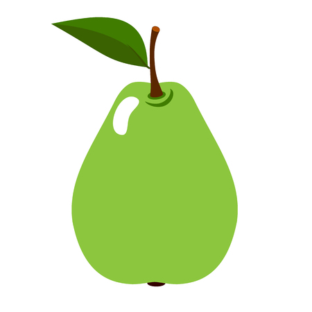 Pear Fresh, whole fruit on a white background. Vector.