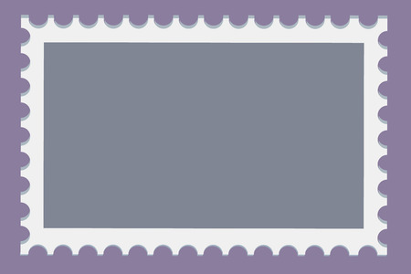 Blank postage stamps template set on dark background. Rectangle postage stamps for envelopes, postcards. Vector illustration. Ilustrace