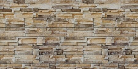 Stone wall backdrop. Facing Stone. Seamless texture background Sandstone.