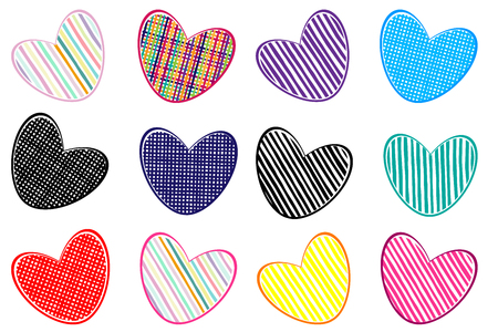 Pattern with hearts. Bright picture of love. Vector illustration