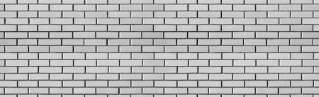 Vintage Seamless white wash brick wall texture for design. Panoramic background for your text or image. Banco de Imagens