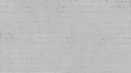 Vintage old white wash brick wall texture for design. Panoramic background for your text or image.