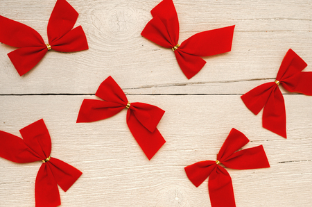 Christmas background Board, bows