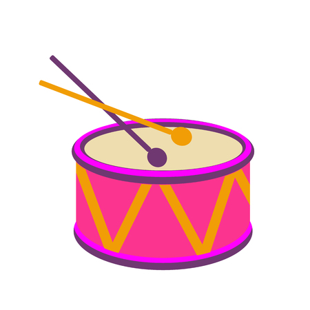 Festive Carnival drums. Isolated on white background.Vector illustration