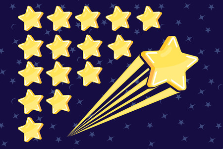 Star icon vector. Classic rank isolated. Star web site pictogram, mobile app. Stock Illustratie