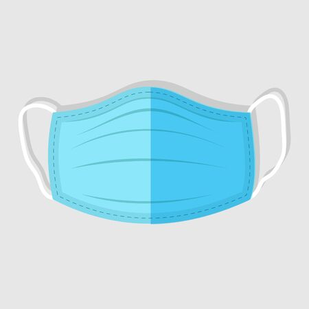 Medical face mask. Flat Icon. illustration 向量圖像