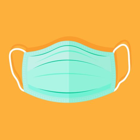 Medical face mask. Flat Icon. illustration Иллюстрация