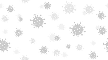 Vector seamless background design with coronavirus bacteria. Stay at home. Иллюстрация