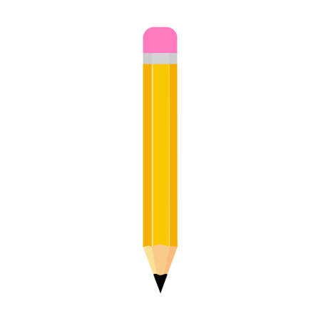 Pencil flat vector illustration isolated on a white background.
