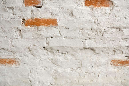 Vintage old white wash brick wall texture. Panoramic background for your text or image. 版權商用圖片