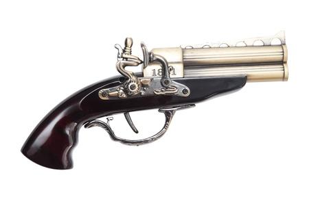 Gun isolated on white photo