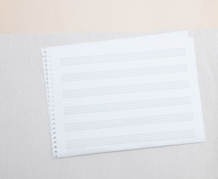 a note paper for musical notes photo