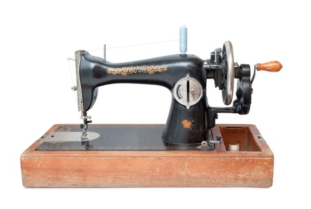sewing machine isolated on white Stock Photo - 20697897