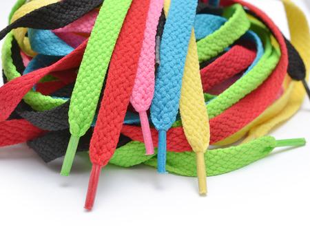 Cordones multicolores Foto de archivo - 23709571