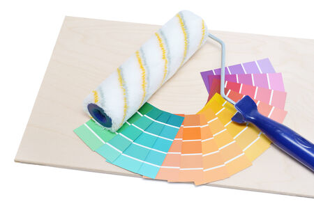 paintroller: Paint-roller on a colour guide