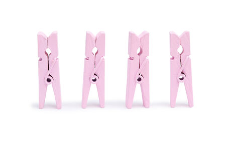 sprung: Pink wooden clothespin