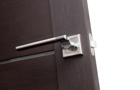 Modern, contemporary satin handle and keyhole detail photo