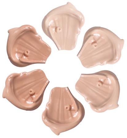 Liquid Foundation isolated on white
