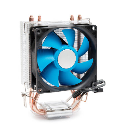 Computer fan. Isolated on a white background photo
