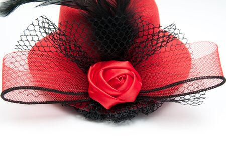 lady's: ladys hat on a white background