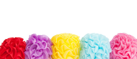 scrunchie: Balloons Colorful scrunchie isolated on white. suitable for background. Stock Photo