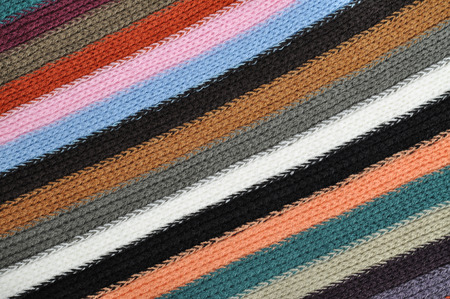 Vintage striped knitting wool texture background photo