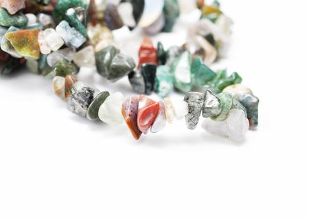 semi precious: Color spectrum of semi precious gemstones, on white background