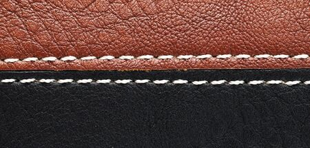 tailor seat: leather background Seam.