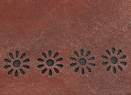 tooled: Leather floral pattern background