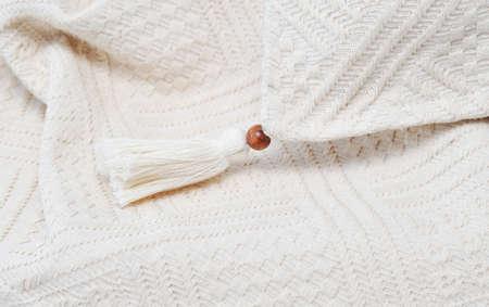 sheeting: tassel textile on fabric background