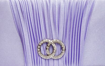 Jewelry brooch  with satin background.