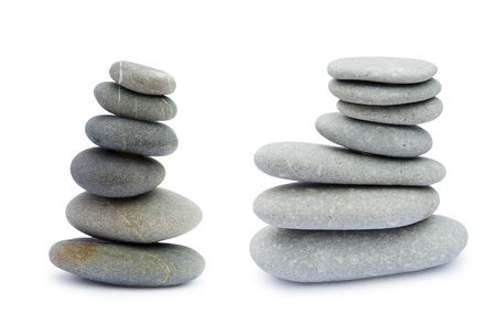 Stone tower isolated on white background. Saving clipping paths.