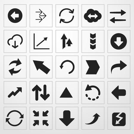 Arrows set di icone