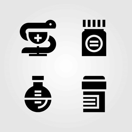 Medical vector icons set. pharmacy, medicine and pills 向量圖像