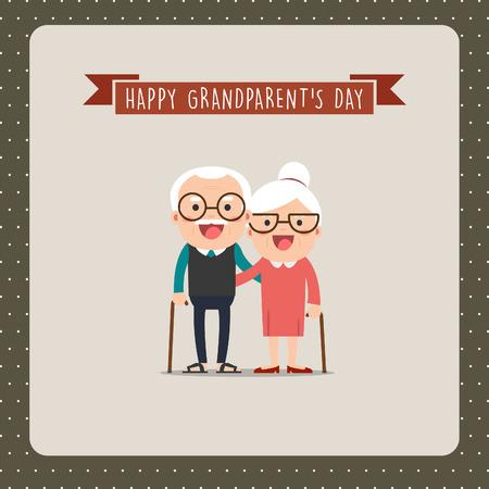 everlasting: Happy Grandparents Day, greeting card Illustration