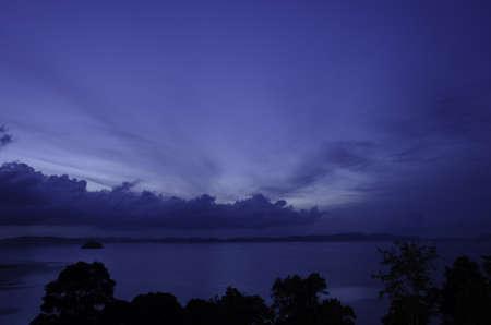 Dawn at sea photo