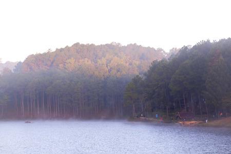 Winter Morning at Pang Ung Lake, Mae Hong Son, Thailand photo