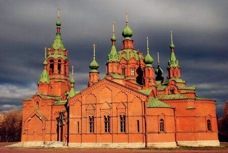 nevsky:  alexandr nevsky church in chelyabinsk Stock Photo