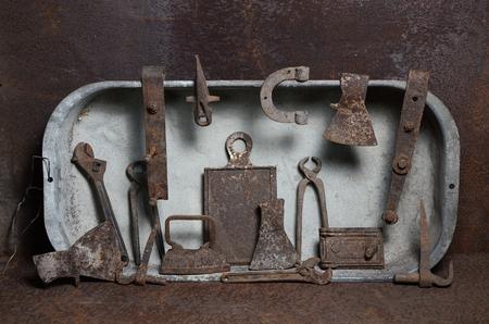 retro ancient tools
