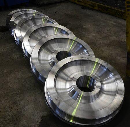 Stacked wagon wheels.