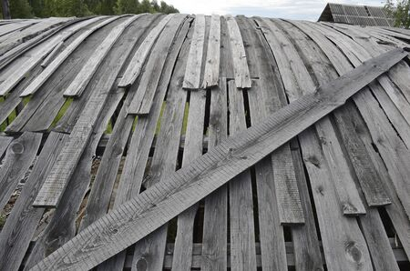 The roof of an old abandoned barn. 写真素材