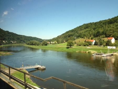 Elbe River in border Czech Republic and Germany Europe