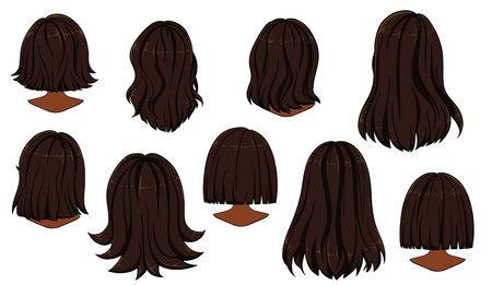 Bella acconciatura di capelli di donna. Retrovisore.